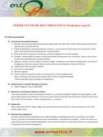 Manuale produzione vegetali Orto Etico
