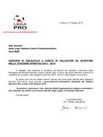sanzioni residue per stagione sportiva 2014-2015