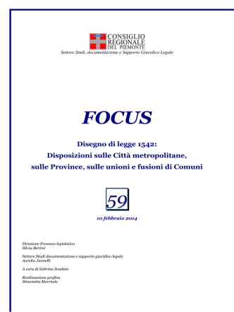 10 febbraio 2014 - Consiglio Regionale del Piemonte