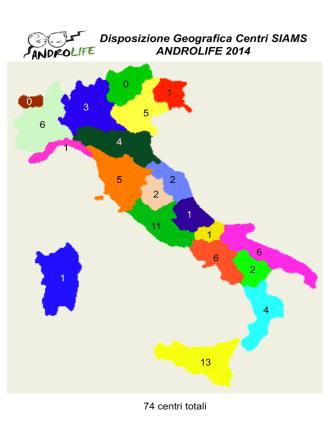 5 marzo 14 mappa ANDROLIFE 2014 finale