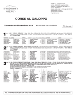 CORSE AL GALOPPO - Ippodromo San Siro Milano
