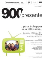 pour échapper à la télévision - Conservatorio della Svizzera Italiana