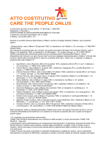 Atto Costitutivo - CarethePeople Onlus
