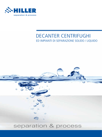 DECANTER CENTRIFUGHI