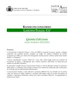 """Bando di concorso """"Lascito Tulla Cò"""" - 5 a edizione"""