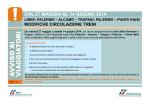 dal 27 maggio al 14 giugno 2014 linee: palermo – alcamo