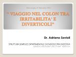 Intervento dr. Savioli - Associazione Arte e Cultura Schivenoglia