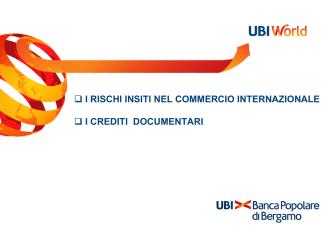 Crediti documentari - Camera di commercio di Bergamo