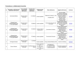 Consulenze e collaborazioni tecniche