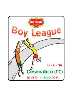 cartella stampa della Del Monte Boy League