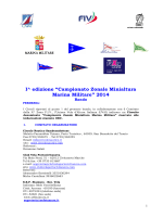 I edizione 2014 Bando CAMPIONATO ZONALE