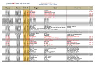 catalogo film dvd in ordine di argometo