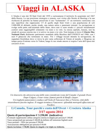 ALASKA E CANADA 2014 - Centro Turistico Acli