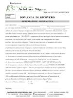 DOMANDA DI RICOVERO