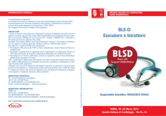 BLS-D Esecutore e Istruttore - Società Italiana di Cardiologia