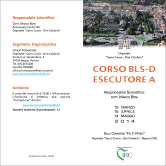 CORSO BLS-D ESECUTORE A - Ospedale Sacro Cuore Don Calabria