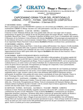 CAPODANNO GRAN TOUR DEL PORTOGALLO