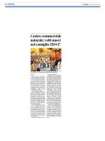 Centro commerciale naturale: volti nuovi nel consiglio 2014-17