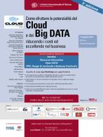 Cloud e dei Big DATA - Istituto Internazionale di Ricerca