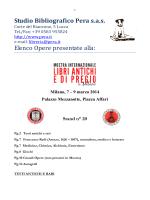 Studio Bibliografico Pera s - Mostra Libri antichi e di pregio a Milano