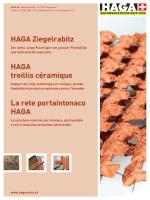 HAGA Ziegelrabitz HAGA treillis céramique La rete portaintonaco
