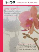 Programma 25ennale - FIDAPA BPW Italy Roma Campidoglio