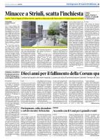 CAORLE MINACCE AL SINDACO LUCIANO STRIULI SCATTA