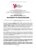 Documento di Registrazione Banca Popolare di Bari 2014