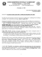 Iscrizioni sessione aprile 2015 certificazione linguistica FCE (B2)