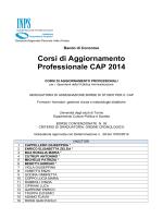 Corsi di Aggiornamento Professionale CAP 2014