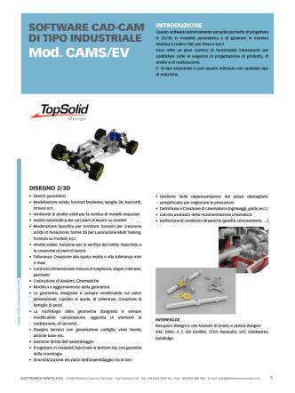cams/ev - software cad-cam di tipo industriale