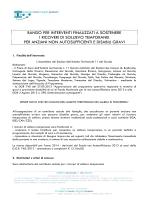BANDO PER INTERVENTI FINALIZZATI A SOSTENERE