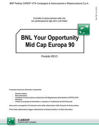 BNL Your Opportunity Mid Cap Europa 90