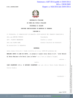 Sentenza n. 6487/2014 pubbl. il 20/05/2014 RG n. 52050/2009