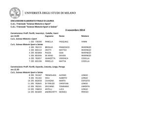 Calendario di laurea - novembre 2014