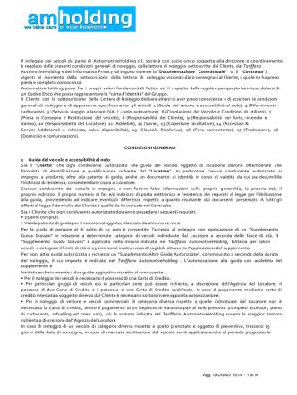 Condizioni - Automotiveholding srl