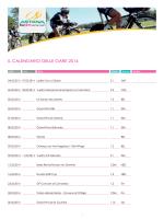 IL CALENDARIO DELLE GARE 2014