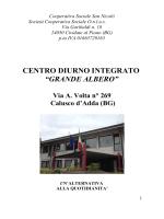 carta dei servizi di Calusco - Cooperativa Sociale San Nicolò ONLUS