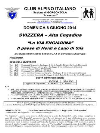 Alta Engadina (SVIZZERA) - CAI Sezione di Gorgonzola