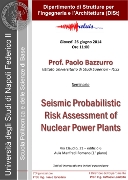 Seismic Probabilistic Risk Assessment of Nuclear Power