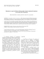 Relazioni tra specie di Ditteri Chironomidi e fattori