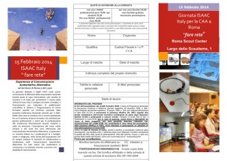 "15 Febbraio 2014 ISAAC Italy "" fare rete"""
