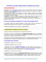 offerte lavoro 30.10.2014 - Informagiovani Recanati