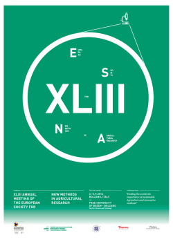 xliii annual meeting of the european society for new methods in