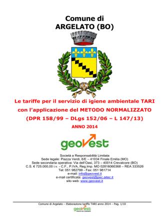 ANNO 2014 - Comune di Argelato