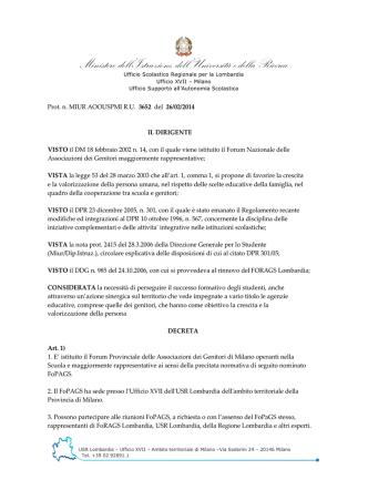 Decreto3652_14 - Ufficio scolastico regionale per la Lombardia