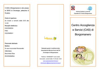 Centro Accoglienza e Servizi (CAS) di Borgomanero