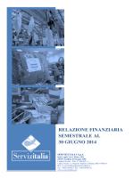 relazione finanziaria semestrale al 30 giugno 2014