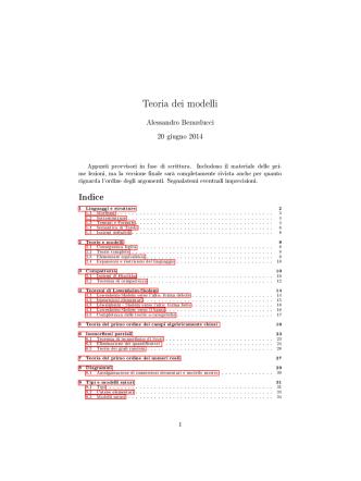 Appunti del corso aggiornati al 12 maggio 2014