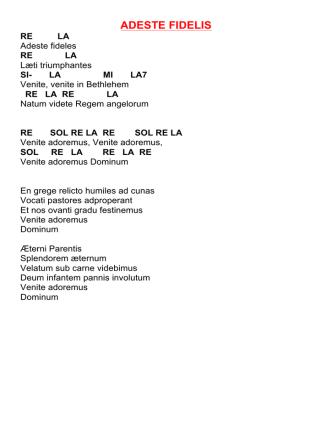 Canti natale 2014 - Accordi chitarra